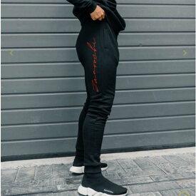 ZANOUCHI(ザヌーチ)メンズ ロゴ ジャージ ブランド ボトム スウェットパンツ ジョガーパンツ ジムウェア フィットネスウェア オシャレトレンド インポート トップス 大きいサイズ 20代 30代 40代 ファッション コーディネート