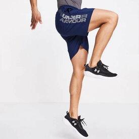 Under Armour  ロゴ アンダーアーマー ランニング スポーツ ショーツ ショート ハーフパンツ ジム スポーツ ヨガ インストラクター フィットネス ボトム メンズ 男性 インポートブランド 小さいサイズから大きいサイズまで