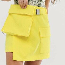 ASOS DESIGN ユーティリティ スカート バム バッグ ディテール付き レディース 女性 20代 30代 40代 インポート ブランド