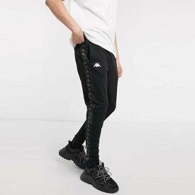 Kappa Authentic Banda Cheron スリム ジョガー ブラック 20代 30代 40代 ファッション コーディネート 小さいサイズから大きいサイズまでオシャレ トレンド インポート トレンド