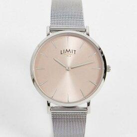 Limit ローズゴールドケース付きシルバーのリミットメッシュウォッチ 時計 アクセサリー メンズ 男性 インポートブランド