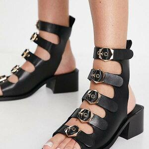 ASRA ASRA スターラ グラディエーター サンダル ブラック レザー 靴 レディース 女性 インポートブランド 小さいサイズから大きいサイズまで