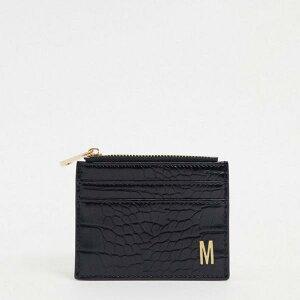 エイソス ASOS asos ASOS DESIGNは、ブラッククロックスのMコイン財布とカードホルダーをパーソナライズしました アクセサリー レディース 女性 インポートブランド