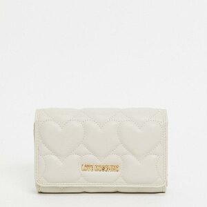 ラブモスキーノLove Moschino クリーム色のモスキーノハートキルティング財布が大好き アクセサリー レディース 女性 インポートブランド