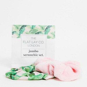 Flat Lay Co. XASOS限定ピンクジャンボシュシュセット アクセサリー レディース 女性 インポートブランド