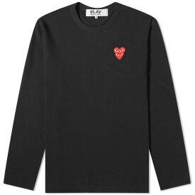 コム・デ・ギャルソン・プレイ PLAY COMME des GARCONS コムデギャルソンは長袖オーバーラップハートTシャツを再生します トップス メンズ 男性 インポートブランド 小さいサイズから大きいサイズまで