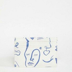 エイソス ASOS asos ASOS DESIGN フェイスプリント カードホルダー アクセサリー レディース 女性 インポートブランド