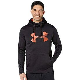 アンダーアーマー Under Armour スポーツ パーカー フーディ— ブラック オレンジ ロゴ 大きいサイズあり 流行 最新 メンズカジュアル ファッション フィットネス