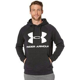 アンダーアーマー Under Armour スポーツ パーカー フーディ— ブラック ホワイト ロゴ 大きいサイズあり 流行 最新 メンズカジュアル ファッション フィットネス
