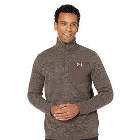 アンダーアーマー Under Armour スポーツ UAスペシャリスト Henley 2.0 ハーフジップ ブラウン ホワイト ロゴ 大きいサイズあり 流行 最新 メンズカジュアル ファッション フィットネス