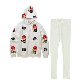ルームウェア roomwear 部屋着 セットアップ 1マイル着 プリント 長袖 大きいサイズ 30代 ピンク 20代 ミント ブラック ホワイト XS〜4L