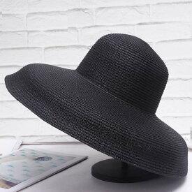 ヘップバーンスタイル 麦わら帽子 つば広い ツバ広 ストローハット シンプル 帽子 フェス コスプレ ビーチ 海 旅行に最適な帽子 レディース 女性 大人カジュアル 20代 30代 40代 日差し予防 プレゼントに最適
