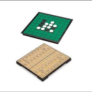 将棋 リバーシ 二種類セット マグネット式 おもちゃ ゲーム 折りたたみ 収納 こども 旅行 初心者 こども 大人向け ボードゲーム