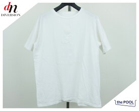 the POOL aoyama Disney ザ・プールアオヤマ ディズニー dive into the pool Tee 半袖 ミッキー ロゴ プリント Tシャツ カットソー WHITE S 【中古】 DN-1250