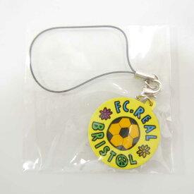 【未使用品】 F.C.Real Bristol F.C.R.B. FCRB エフシーレアルブリストル サッカーボール ロゴ 携帯 ストラップ YELLOW 【中古】 DN-12969