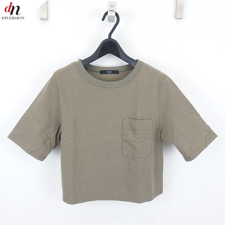 Another Edition アナザーエディション 半袖 ポケット付き ショートTシャツ KHAKI 【中古】 DN-4495
