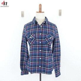 w closet ダブルクローゼット チェック ネルシャツ NAVY M 【中古】 DN-4714