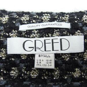 GREEDグリードラメツイードチュニックワンピースS【中古】DN-4892
