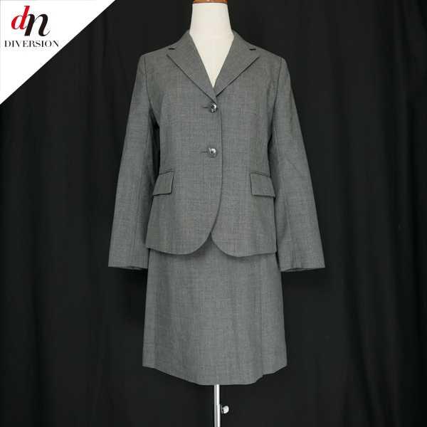 COMME CA BOYS コムサ ボーイズ ウール テーラードジャケット スカート セットアップ スーツ GRAY S 【中古】 DN-6265