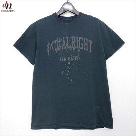 16SS TANGTANG タンタン ARCHIVE ALRIGHT TEE コットン 半袖 すべてはALLRIGHT ロゴ Tシャツ カットソー BLACK M 【中古】 DN-8673