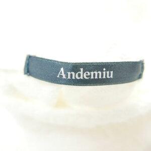AndemiuアンデミュウボトルネックノースリーブトップスWHITE【中古】DNS-1455