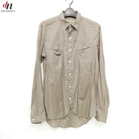 12SS The Letters ザ レターズ 長袖 ウェスタンシャツ BROWN L 【中古】 DNS-3129