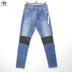 【未使用品】 16AW The Letters レターズ 5 Pocket Stretch Denim Leather Patch Slim Pant レザー パッチ ストレッチ スリム デニムパンツ INDIGO M 【中古】 DNS-3527