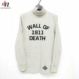 14AW NEIGHBORHOOD ネイバーフッド WOD/C-HN.LS コットン 長袖 ハイネック WALL OF DEATH ロゴ カットソー Tシャツ BEIGE S 【中古】 DNS-4029