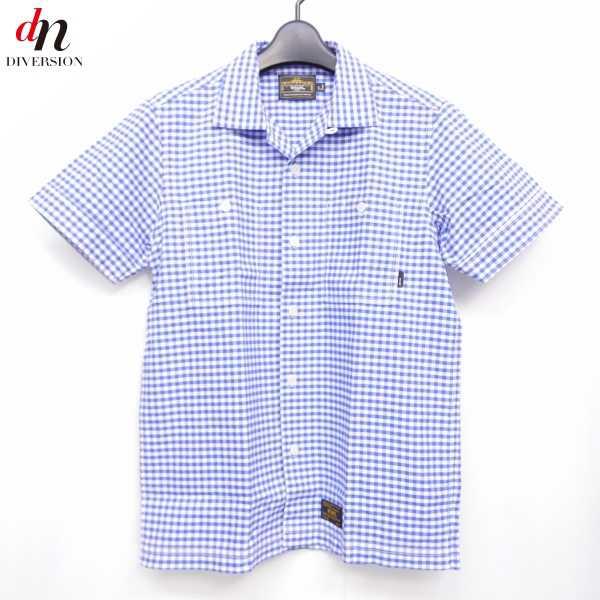13SS WTAPS ダブルタップス SODA S/S コットン 半袖 ギンガムチェック オープンカラーシャツ BLUE S 【中古】 DNS-6921
