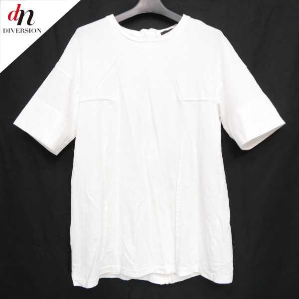 UNDERCOVER アンダーカバー コットン 半袖 バックジップ スウェット TEE Tシャツ カットソー WHITE 2 【中古】 DNS-6964