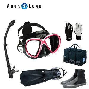 アクアラング 軽器材6点セットリヴィールX2ヴァリオスノーケルTUSA ツサ ロングブーツ マイスター フィンマリングローブ スキューバダイビング 軽器材セット