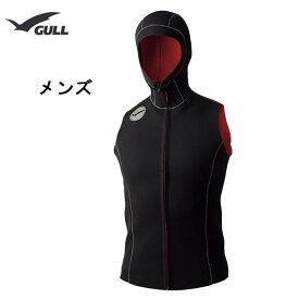 GULL(ガル) ベスト FIRフードベスト3 メンズ GW-6627 男性用 ダイビング シュノーケリング マリンスポーツ 保温 フードベスト GW6627
