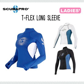 SCUBAPRO(スキューバプロ)T-FLEX(ティーフレックス)ラッシュガード ロングスリーブ レディース A-S-520 ダイビング リゾート 長袖 女性