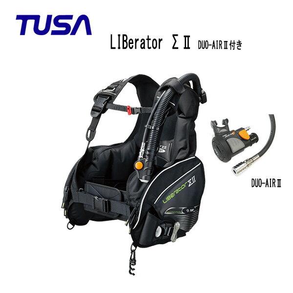 TUSA (ツサ) BC LIBerator ΣII リブレータ・シグマ2 インフレーターレギュレーターDUO-AIRII付き BC0101A メンズ レディース 男性 女性 男女兼用 ダイビング・メーカー在庫確認します