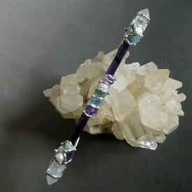 ザ・シークレット(引き寄せの法則)マニフェステーション Mサイズワンド 水晶&天然石