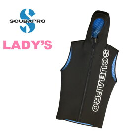 ダイビング フードベスト SCUBAPRO スキューバプロ Sプロ EVERFLEX Hooded Vest w/F-zip 3mm Lady