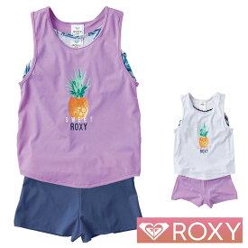 ROXY ロキシー 子供 水着 女の子 子供水着 ラッシュガード 2点セット キッズ ジュニア MINI SWEET ROXY TSW202100