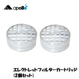 apollo/アポロ エレクトレットフィルターカートリッジ 2個セット