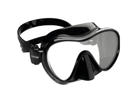 Cressi-sub F1 フレームレスマスク ブラックシリコン
