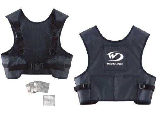 World Dive ドライスーツ専用ウエイトベスト ver.2 鉛板5枚セット(ワールドダイブ ウェイトベストセット)