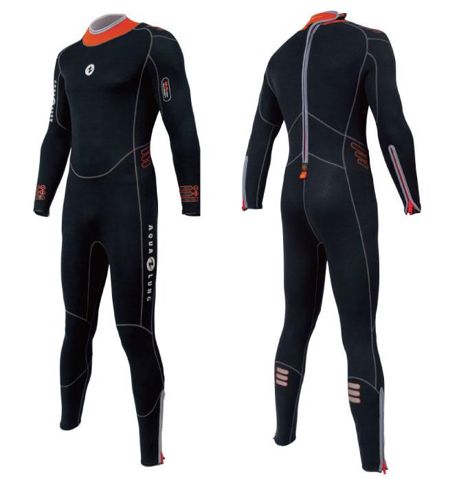 AQUALUNG(アクアラング) 5.5mmプレザント・ウェットスーツ メンズ ブラック/オレンジ
