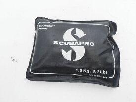 USED SCUBAPRO スキューバプロ エコウェイト ブラック 1.5kg ランクAA [37208]