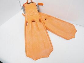 USED AQUALUNG アクアラング マイスターフィン オレンジ サイズ:L (27-29cm) ランクAA [41752]