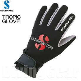 SCUBAPRO(スキューバプロ) TROPIC GLOVE トロピックグローブ [ブラック]