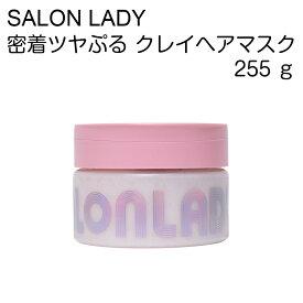 SALON LADY サロンレディ 密着ツヤぷるクレイヘアマスク おうちdeサロン体験 ヘアパック ダメージケア うねり・クセ毛抑制 ピンククレイ配合
