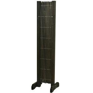伸縮フェンス高さ120cmダークブラウン木製アコーディオンフェンス