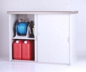 【送料無料】収納庫 幅134cm 高さ100cm HMG-1310 家庭用 小型物置