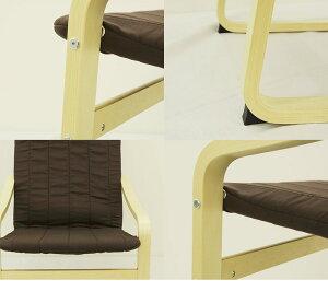 アームチェア北欧風『kokoココ』チョコレートバーチプライウッド椅子曲げ木曲木茶ブラウン