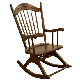 ロッキングチェア 木製 (YHR002) フィガロ カラー:オーク 揺り椅子