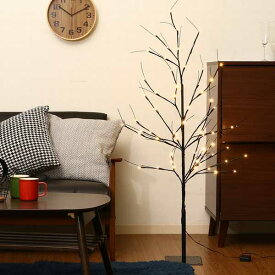 クリスマスツリー LEDブランチツリー ブラック 120cm (18199)